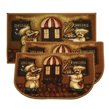 kashi home chef pc kitchen rug set  slice