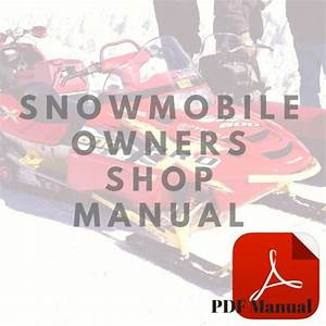 Yamaha 1977 Exciter 340a 440a Owner U0026 39 S Service Snowmobile Manual
