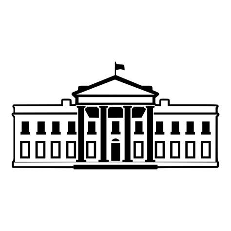 White House Clip White House Clipart House Representatives Pencil And In