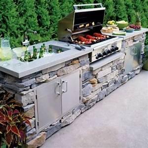 amenagement barbecue exterieur beautiful amenagement With superior photo cuisine exterieure jardin 1 cuisine dete exterieure trouvez le bon amenagement