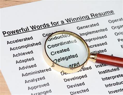 100 most powerful resume words verbs high school