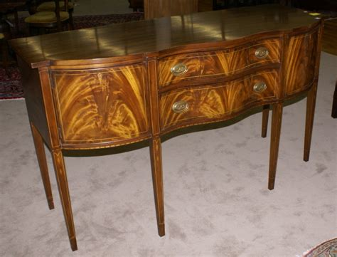 Henkel Harris Sideboard by Signed Henkel Harris Mahogany Inlaid Hepplewhite