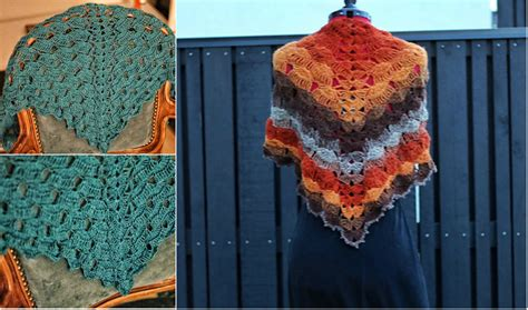 pattern slow waves crochet shawl diy smartly