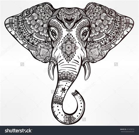 elephant mandala clipart   cliparts