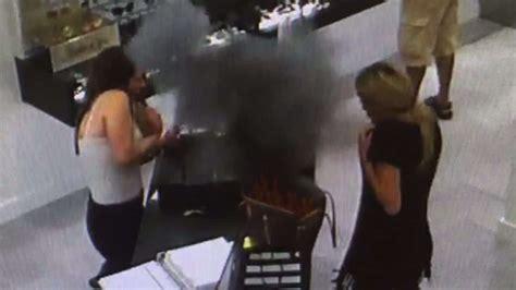 vape  explodes  womans  louis vuitton bag
