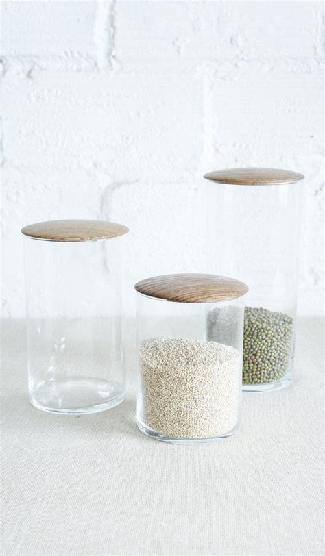 Glass Canisters Kitchen by 1000 Ideas About Glass Canisters On Canisters