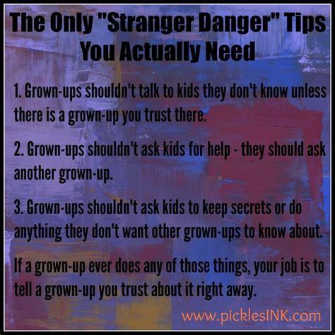 8 best danger fhe images on school 309 | c23933bd91db657643a3844bb628f166 stranger danger to tell