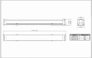 Weather-proof Batten 120 Cm - 23w