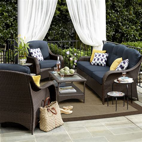 Exterior Patio Furniture by Grand Resort Summerfield 4 Pc Seating Set Denim Limited