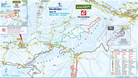 cross country skiing trail map seiser alm nordic trail map