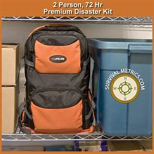Lifeline 2 Person 72 Hour Premium Emergency Kit  4048