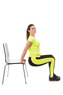 5 exercises to do using the chair femina in