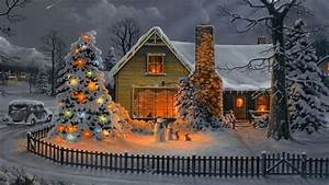 Christmas House Wallpaper