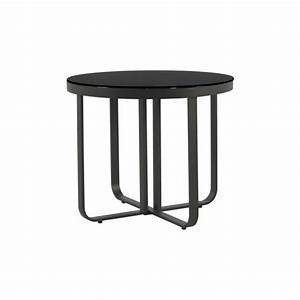 Table Ronde Aluminium : beautiful table de jardin ronde plateau verre gallery awesome interior home satellite ~ Teatrodelosmanantiales.com Idées de Décoration