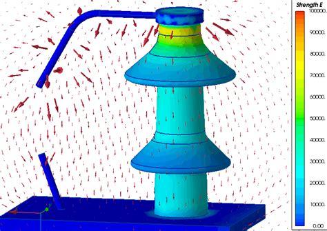 arcing horns bushing insulator quickfield fea software