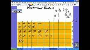 Grade Chart For Students How To Order Fractions From Least To Greatest Youtube