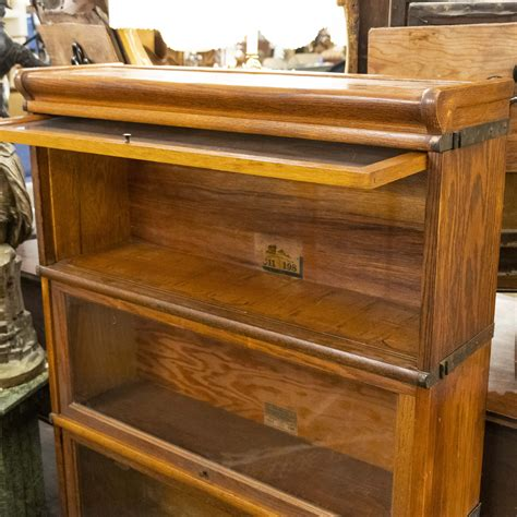 Stackable Barrister Bookcase by Globe Wernicke Antique Oak Stacking Barrister Bookcase