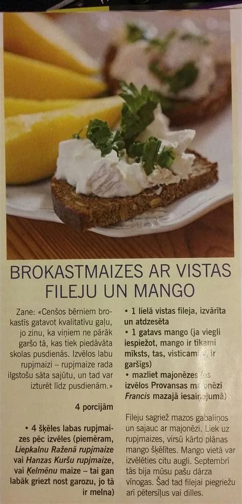 Brokastu maize ar visas fileju un mango www.averto.lv ...