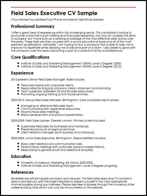 How To Make Cv For Sle sle of cv sales manager sales manager resume sle