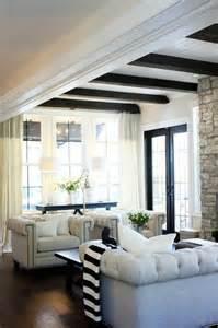 Black and White Striped Throw   Transitional   living room   Jillian Harris