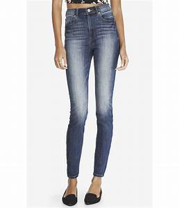 Lyst - Express Super High Waisted Jean Legging in Blue