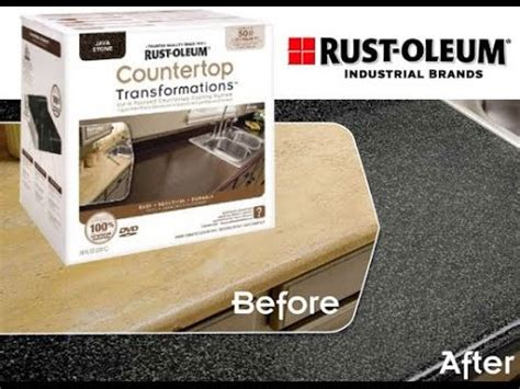 how to get rust a countertop rust oleum countertop transformation how to and review
