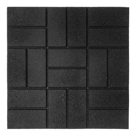 rubber paver tiles canada envirotile 24 in x 24 in xl brick black rubber paver 4