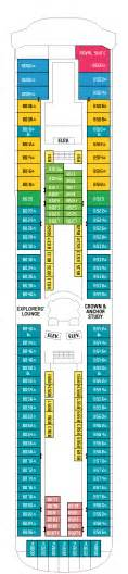 international cruise rhapsody of the seas deck plan crossworld holidays