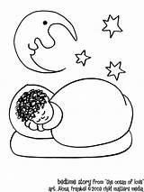 Coloring Bedtime Sleep Cartoon Popular sketch template