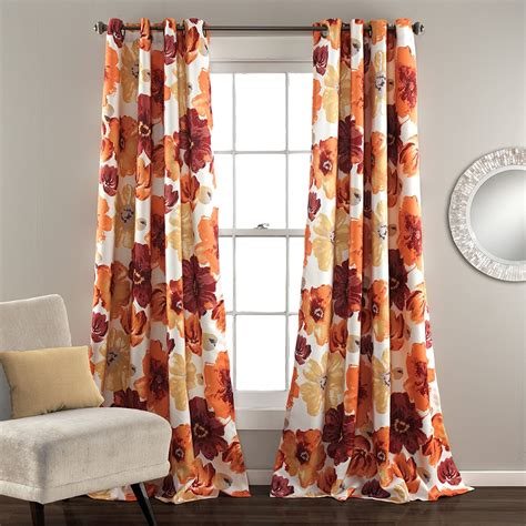 buy best orange curtains ease bedding with style