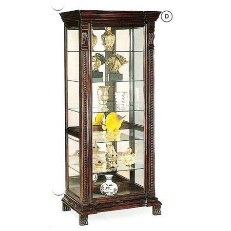 Coaster Glass Curio Cabinet In Cappuccino by Coaster Glass Shelves Curio China Cabinet Cappuccino Wood
