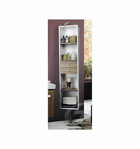 colonne de rangement amovible meuble salle de bain une With colonne rangement salle de bain