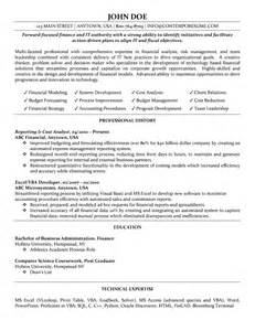 resumes for finance professionals cost analyst resume