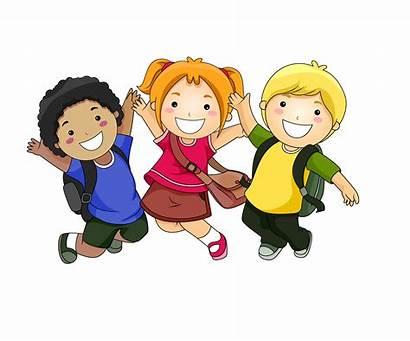 Kindergarten Jump Start Students Cheering Transitional