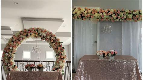 Diy Floral Arch & backdrop DIY wedding Decor YouTube