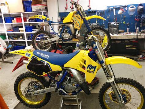 evo motocross bikes suzuki rm 125 1990 evo raceservice raceservice 39 s bike