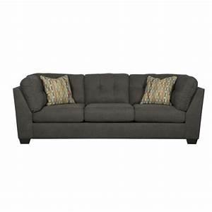 Ashley Furniture Delta City Microfiber Sofa in Steel - 1970038