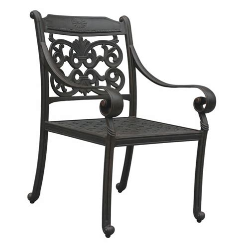 patio furniture chair dining cast aluminum arm dwl florence