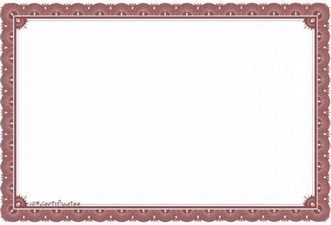 blank certificates template financial letter award