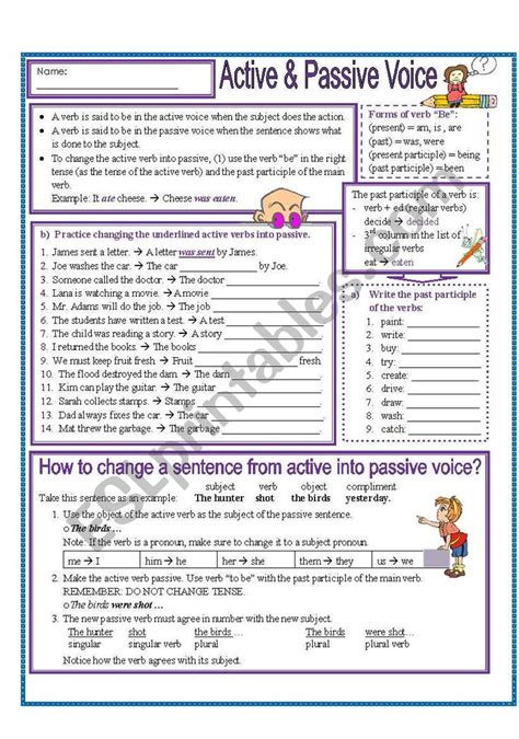 worksheets includes explanation   active