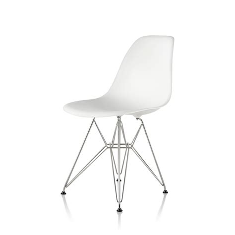 eames molded plastic side chair wire base by charles