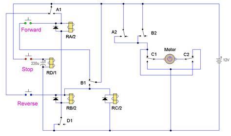 dc motor reversing electronic circuit diagram