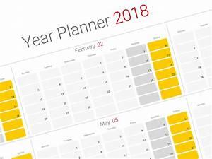 Agenda Planner 2018 : daily planner 2018 yearly wall planner agenda template ~ Teatrodelosmanantiales.com Idées de Décoration