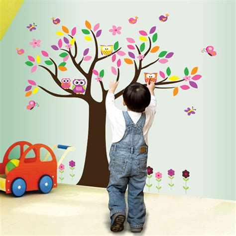 Tree Owl Removable Vinyl Wall Sticker Animals Wall Decals