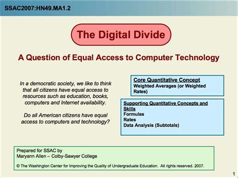 digital divide  data analysis activity  subtotals