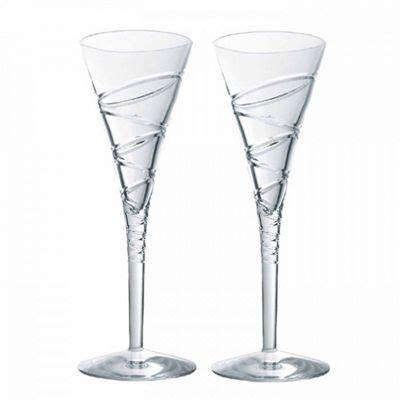 2264 aura wine glasses buy waterford jasper conran aura ii toasting flutes pair
