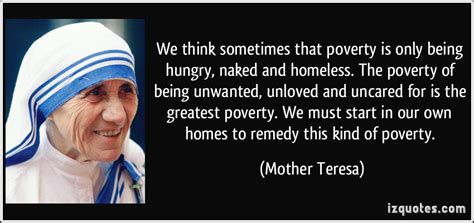 Mother Teresa Homeless Quotes