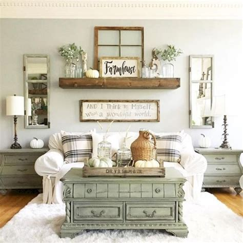 Keep wall decor simple with black and white photographs, pencil or charcoal artwork, framed vintage maps or tip! Cool 39 Modern Chic Farmhouse Living Room Design Decor Ideas Home. More at https… | Farmhouse ...