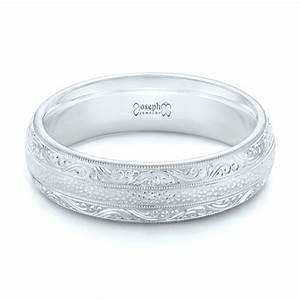 Custom Hand Engraved Men39s Wedding Band 102839 Seattle