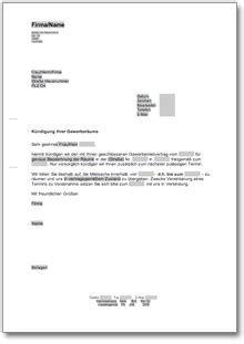 befristeter mietvertrag kündigung durch vermieter k 252 ndigung gewerbemietvertrag fristlos vermieter de musterbrief